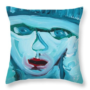 Face Two Throw Pillow