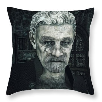 Face With A Story In It Throw Pillow by Jutta Maria Pusl