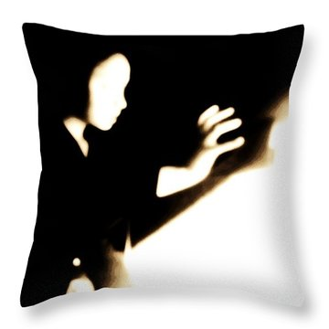 Throw Pillow featuring the photograph Faceless Magician  by Jessica Shelton