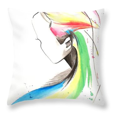 Throw Pillow featuring the painting Faceless by Oddball Art Co by Lizzy Love