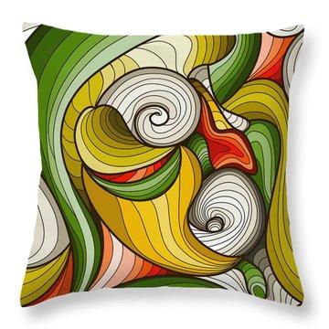 Monkey Pot Throw Pillow by Don Kuing