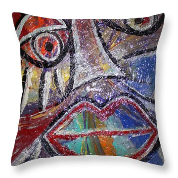 Faces In Life Collection Throw Pillow