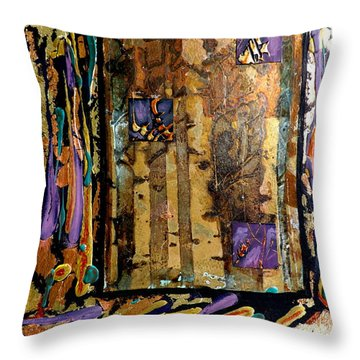 Faces In The Doorway Throw Pillow