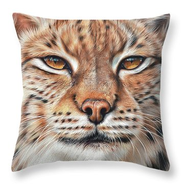 faces of the Wild - Lynx Throw Pillow