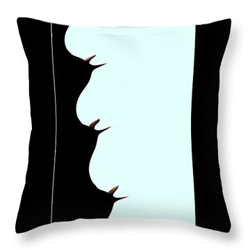 Throw Pillow featuring the photograph Facing A Cathedral Cactus by Michael Hoard