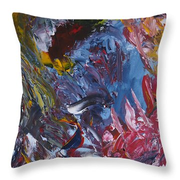 Facing Demons Throw Pillow