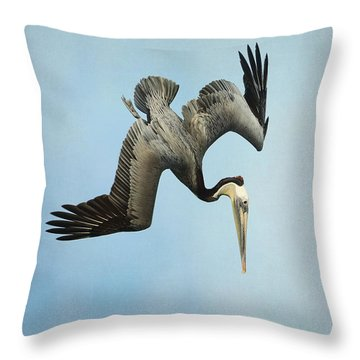 Facing Downward Throw Pillow by Fraida Gutovich