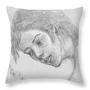 Mother And Child Conversation Throw Pillow