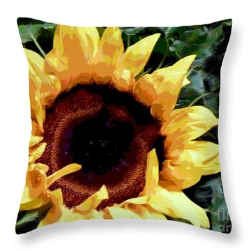 Throw Pillow featuring the photograph Facing The Sun by Sally Simon