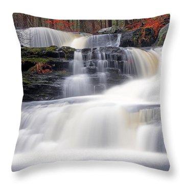 Factory Falls Throw Pillow