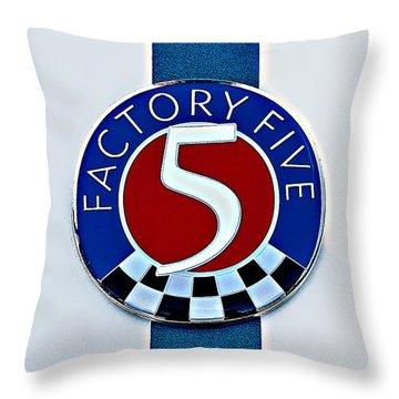 Factory Five Throw Pillow