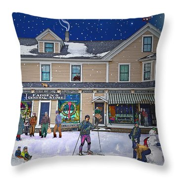 Faddens General Store In North Woodstock Nh Throw Pillow
