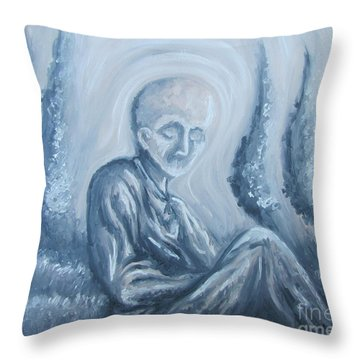 Throw Pillow featuring the painting Fade Away by Michael  TMAD Finney