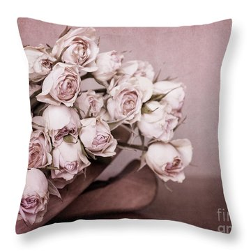 Fade Away Throw Pillow by Priska Wettstein