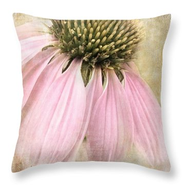 Faded Coneflower Throw Pillow