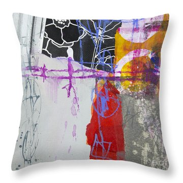 Faded Flower Throw Pillow