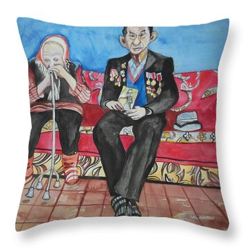 Faded Glory Throw Pillow by Esther Newman-Cohen