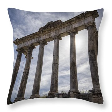 Faded Glory Of Rome Throw Pillow by Joan Carroll