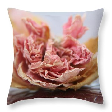 Faded Rose Iv Throw Pillow
