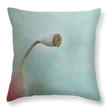 faded summer I Throw Pillow by Priska Wettstein