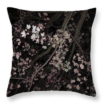 Fading Fall Throw Pillow by Ann Horn