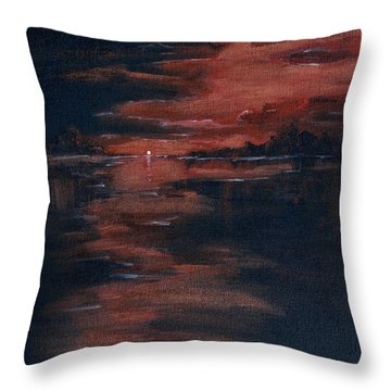 Fading Light Throw Pillow by Donna Blackhall