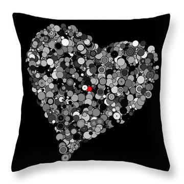 Fading Love Throw Pillow by Marianna Mills