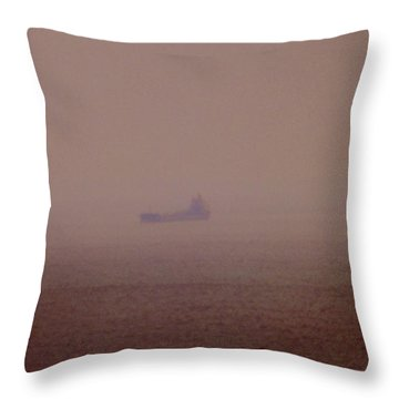 Fading Spector Of The Straits Throw Pillow