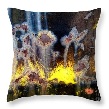 Fae And Fireworks Abstract Throw Pillow