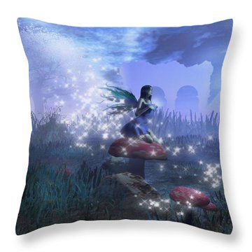 Faerie Throw Pillow by David Mckinney