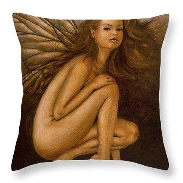 Faerie Portrait II Throw Pillow