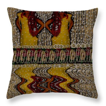 Faeries And Mermaids Throw Pillow by Pepita Selles