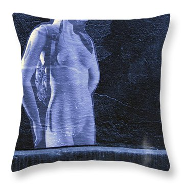 Fagged Out Throw Pillow