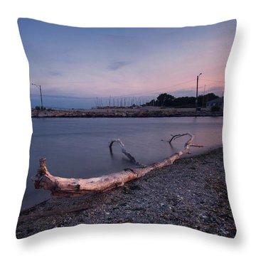 Fairfield Marina At Sunset Throw Pillow