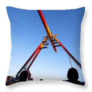 Fairground Ride , Tramore, County Throw Pillow