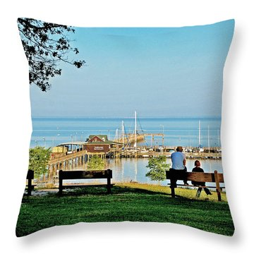 Fairhope Alabama Pier Throw Pillow