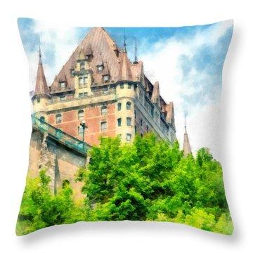 Fairmont Le Chateau Frontenac Throw Pillow