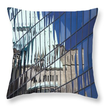 Throw Pillow featuring the photograph Fairmont Reflections by Ross G Strachan