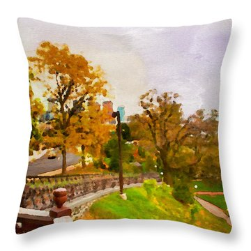 Fairmount View Throw Pillow by Alice Gipson