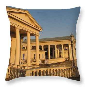 Fairmount Water Works Throw Pillow by Christopher Woods