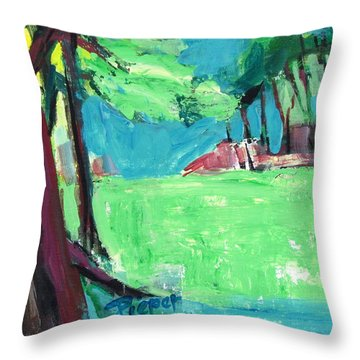 Fairway In Early Spring Throw Pillow