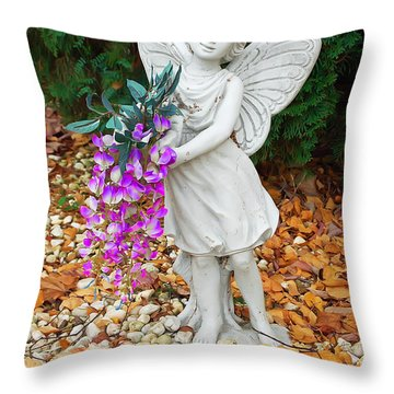 Fairy Throw Pillow by Aimee L Maher Photography and Art Visit ALMGallerydotcom