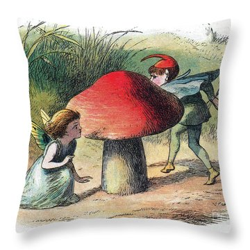 Fairy And Elf-legendary Creatures Throw Pillow by Photo Researchers