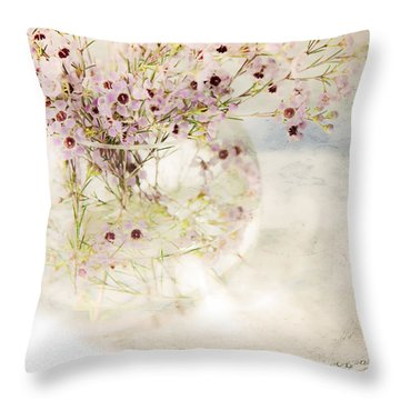 Fairy Bouquet Throw Pillow by Theresa Tahara