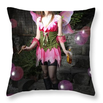 Fairy Bubbles Throw Pillow
