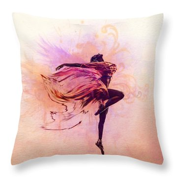 Fairy Dance Throw Pillow by Lilia D