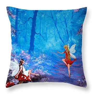 Fairy Dancer Throw Pillow