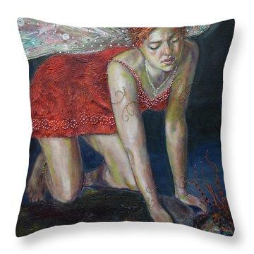 Fairy Faces Bugaboo Throw Pillow