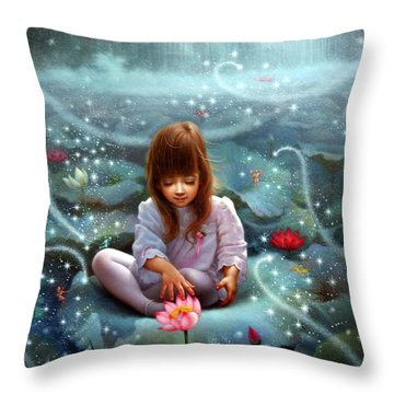 Girl And The Seven Fairy 3 Throw Pillow