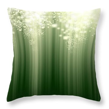 Fairy Grass Throw Pillow
